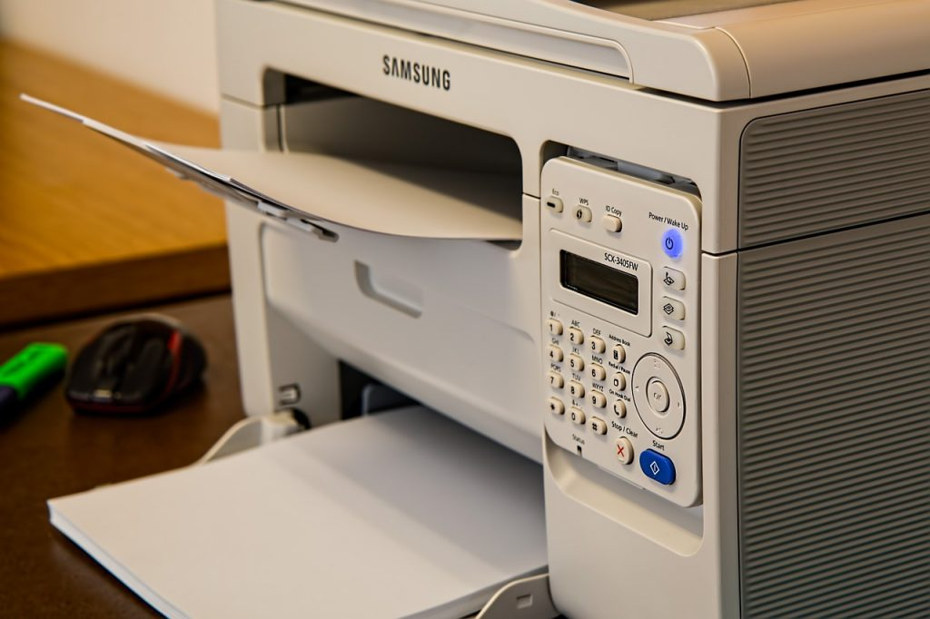 List of different types of printers